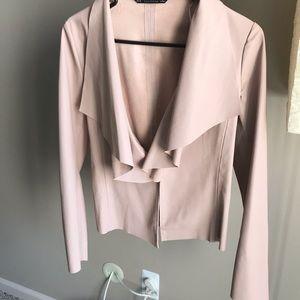 ❤️🌟 ZARA mauve leather jacket
